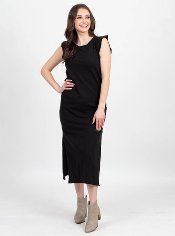 Modern Light Black Ruffle Dress by Z Supply