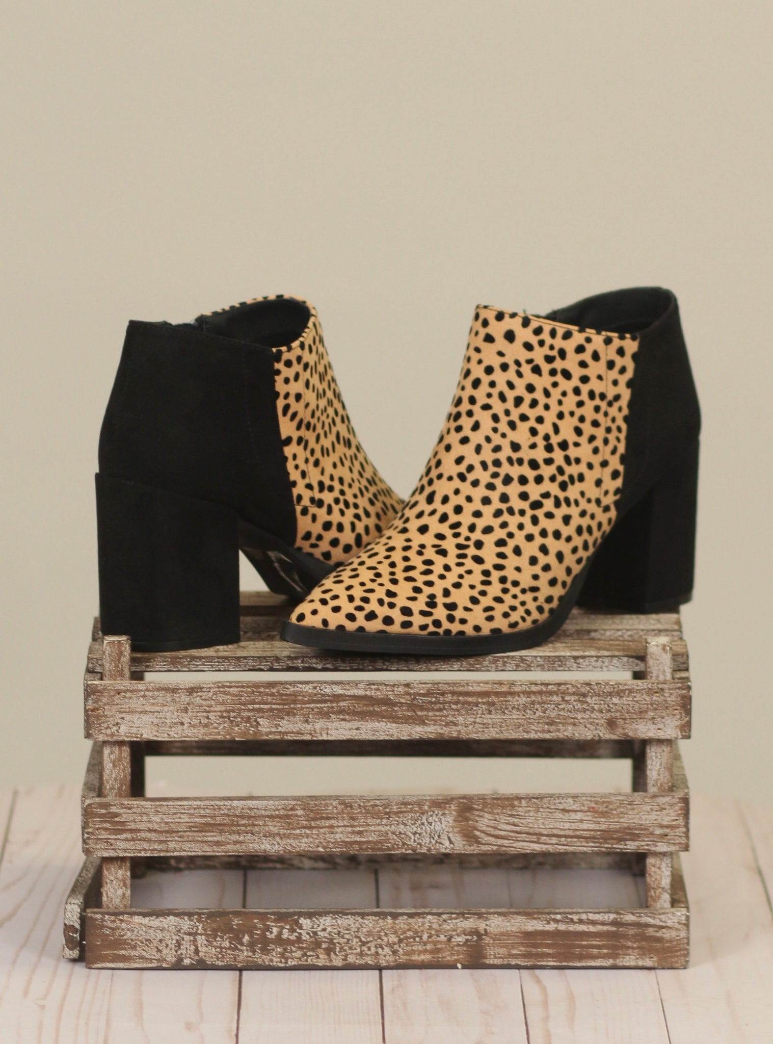The Planner Leopard Booties