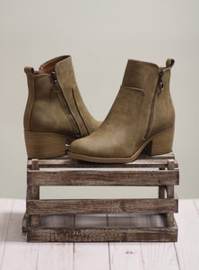 The Troop Taupe Booties