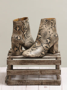 The Robson Booties - Natural Python