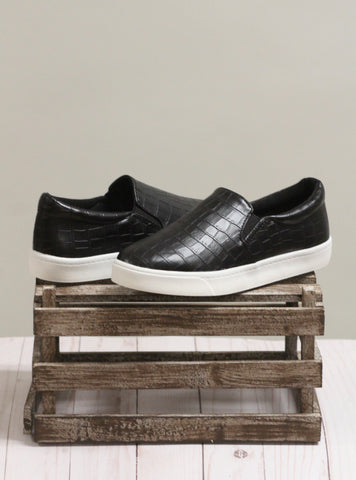 The Reign Slip On - Black Croc