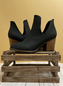 The Valentina Booties - Black Snake