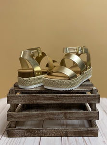 The Bryce Sandals - Gold