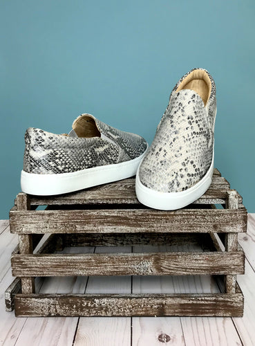 The Reign Python Sneakers - Beige