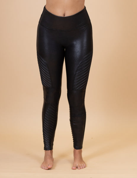 The Leather Moto Spanx Leggings