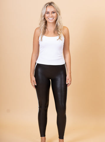 The Leather Side Stripe Spanx Leggings