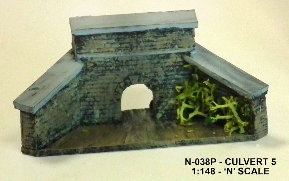Unit Models N-038P N Culvert 5 (Painted)