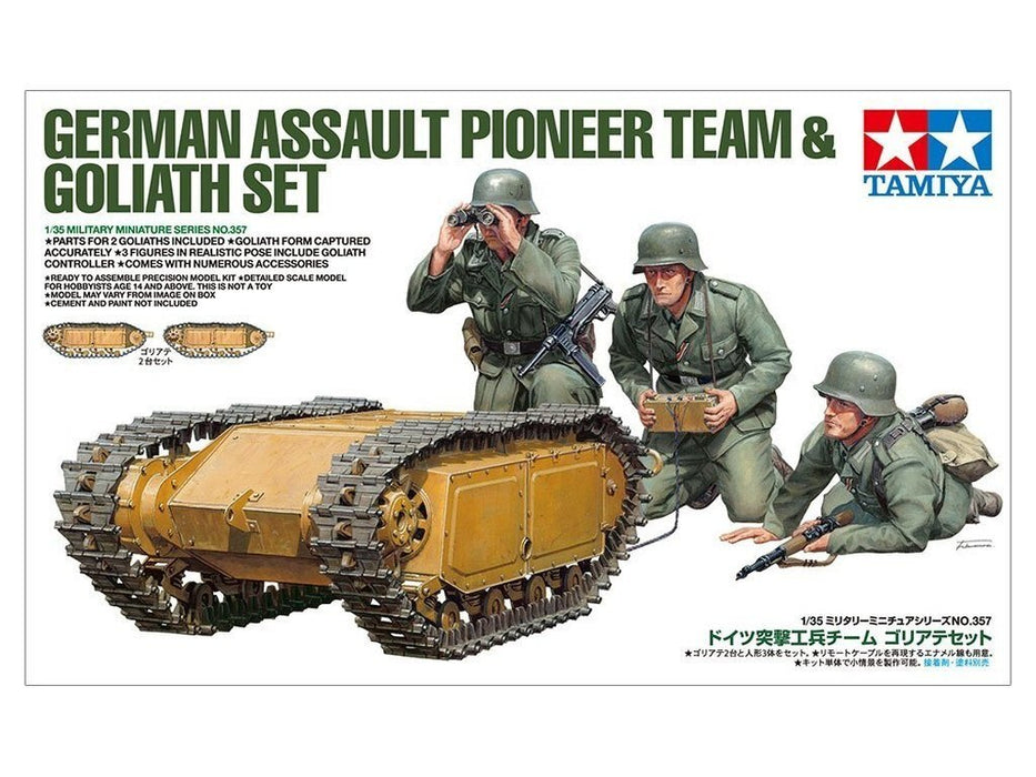 Tamiya 35357 1:35 German Assault Pioneer Team & Goliath Set