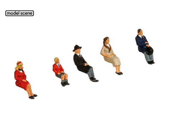 Modelscene 5301 OO Seated People 5pc
