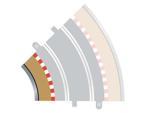 Scalextric C8225 Radius 2 Curve Inner Borders 45 degree x 4