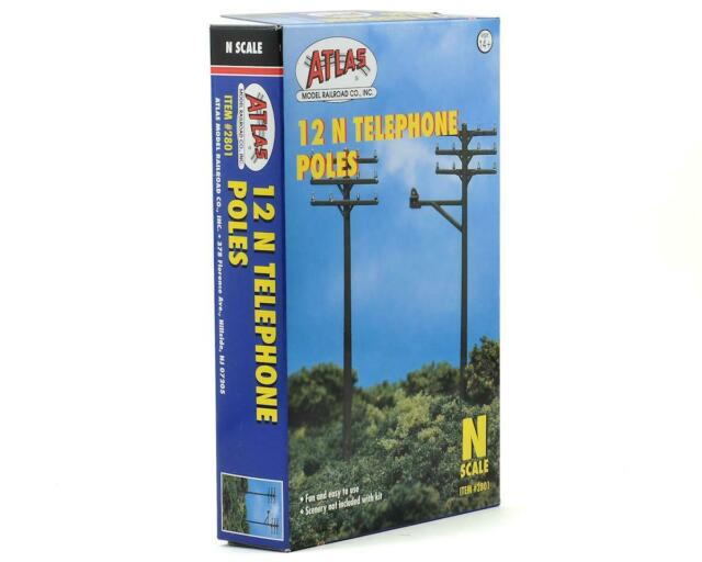 Atlas 2801 N Telephone Poles (12/pack)