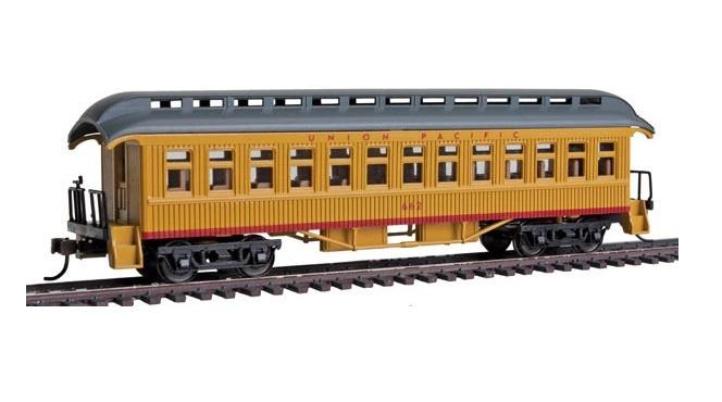 Con-Cor 15613 HO 1880s Wood Open-Platform Coach - Union Pacific 662