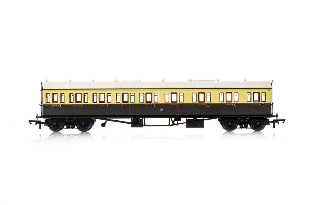 Hornby R4875A GWR Collett 57' Bow Ended E131 Nine Compartment Composite Right Hand 6627 - Era 3