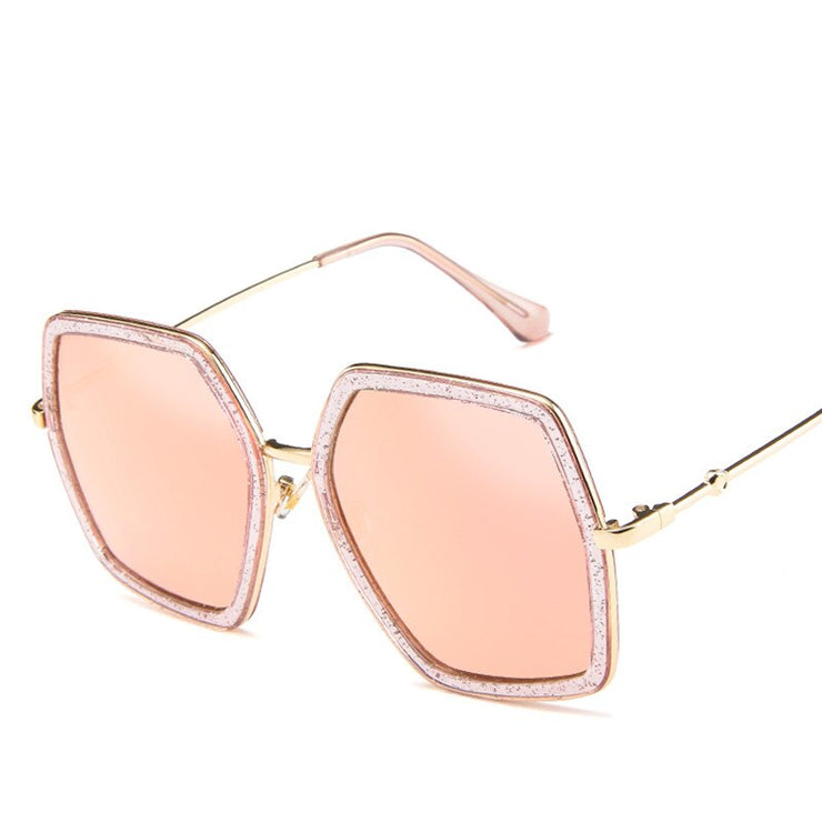 WOMEN BIG FRAME SQUARE SUNGLASSES