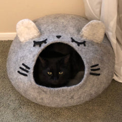 Sleepy Mous Large Cat Cave House Bed