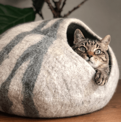 High quality handmade wool cat house