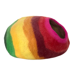 Rainbow Colors wool cat cave cat bed