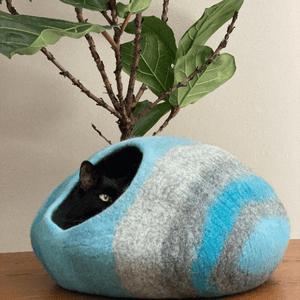 Eco friendly natural wool cat cave cat bed