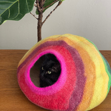 Load image into Gallery viewer, RAINBOW Cat Cave Bed