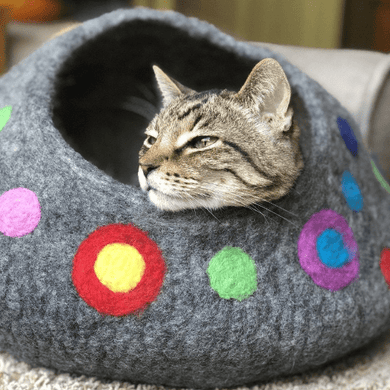 YOU ARE SPOTTED Wool Cat Cave | Cat Bed