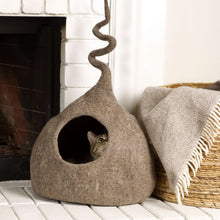 Load image into Gallery viewer, brown-wool-cat-house