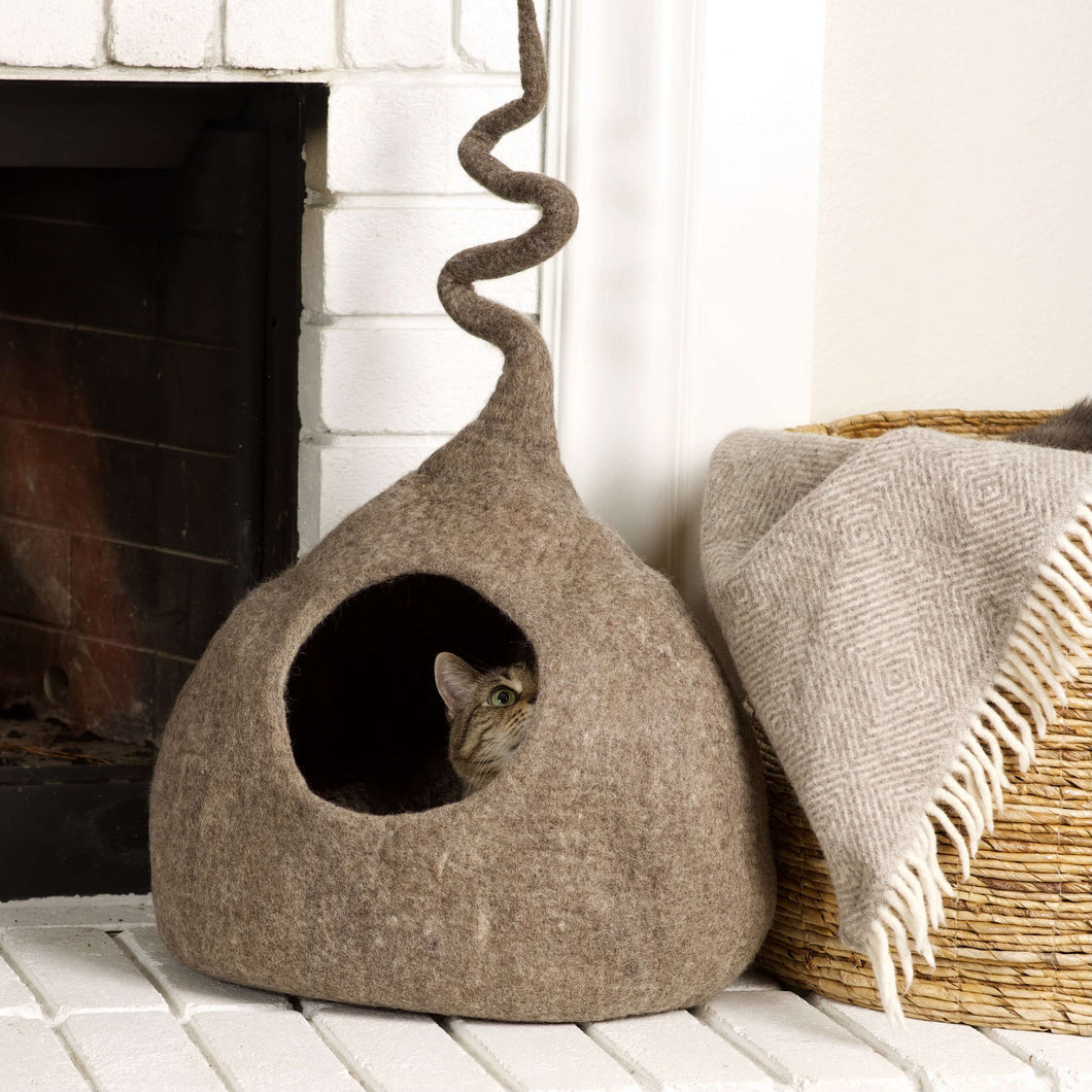 brown-wool-cat-house