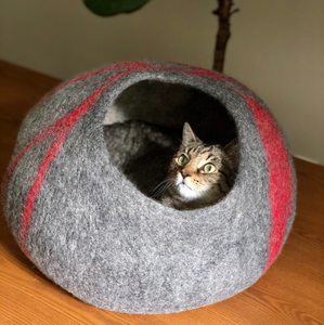 felt wool cat cocoon cave