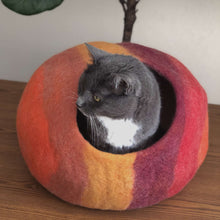 Load image into Gallery viewer, felt wool cat cocoon cave
