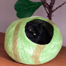 Load image into Gallery viewer, cat in wool cat house