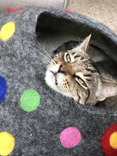 Load image into Gallery viewer, YOU ARE SPOTTED Cat Cave Bed