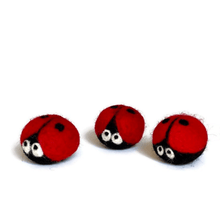 Load image into Gallery viewer, wool-felted-ladybug
