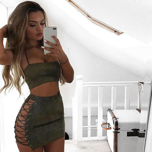 Sexy Women Bandage Summer Skirt