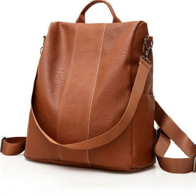 Leather Bucket Backpack