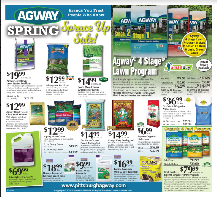 Spring specials ad cover