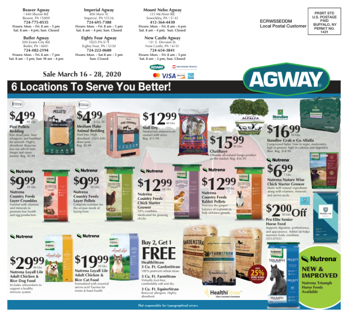 spring specials ad inside page