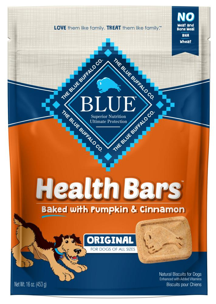 Blue Health Bars Baked With Pumpkin & Cinnamon Dog Treats