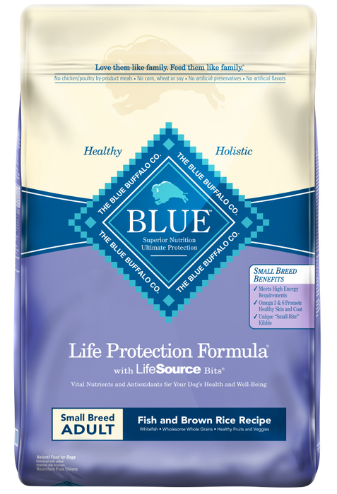 Blue Buffalo Life Protection Fish & Brown Rice Recipe Small Breed Adult Dry Dog Food