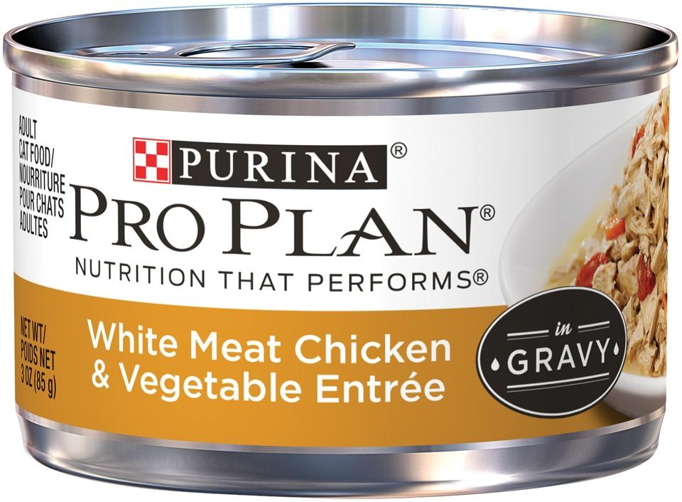 Purina Pro Plan Savor Adult White Chicken with Vegetables in Gravy Entree Canned Cat Food
