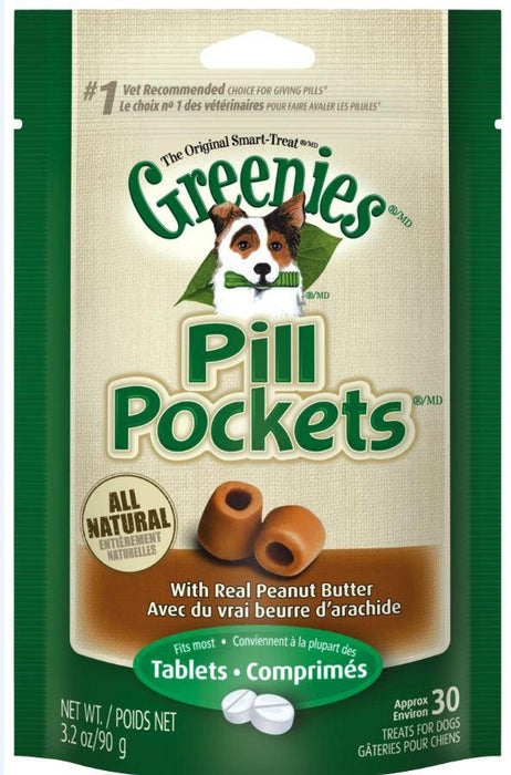 Greenies Pill Pockets Canine Peanut Butter Dog Treats