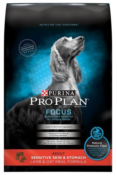 Purina Pro Plan Focus Sensitive Skin & Stomach Formula Lamb and Oat Meal Formula Dry Dog Food