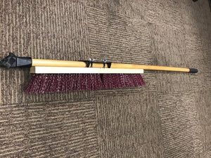 "WEILER 44604 - 24"" PRO-FLEX MAROON POLYPROPYLENE SWEEP W/60"" HANDLE"