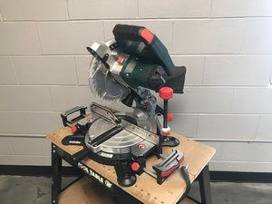 "METABO KS 18 LTX 216 (619000850) CORDLESS 8 1/2"" MITER SAW W/2 BATTERIES AND CHARGER!!"