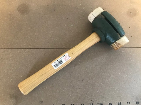 "GARLAND #3 RAWHIDE SPLIT HEAD HAMMER 1 3/4"" DIAMETER"