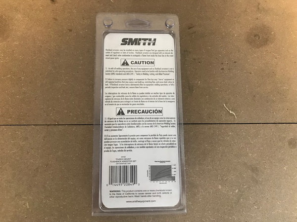 SMITH FLASHBACK ARRESTOR SET TORCH MOUNT H743