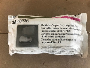 3M MULTI GAS & VAPOR/P100 FILTER (2PK)