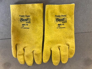 FUZZY DUCK YELLOW GENERAL PURPOSE FULLY PVC COATED GLOVES (12/PK)