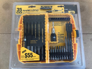 DEWALT 35PC MAGNETIC COMPACT POWER BIT RAPID LOAD SET