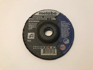 "METABO GRINDING WHEEL 4"" X 1/4"" X 5/8"", TYPE 27, A24N (US616745000) 25/BOX"