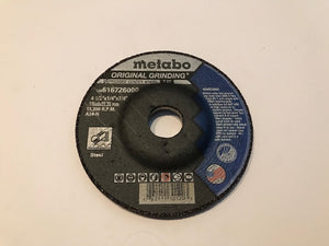 "METABO 4 1/2"" X 1/4"" x 7/8"" A24N TY27 STEEL GRINDING WHEEL (616726000) 25/BOX"