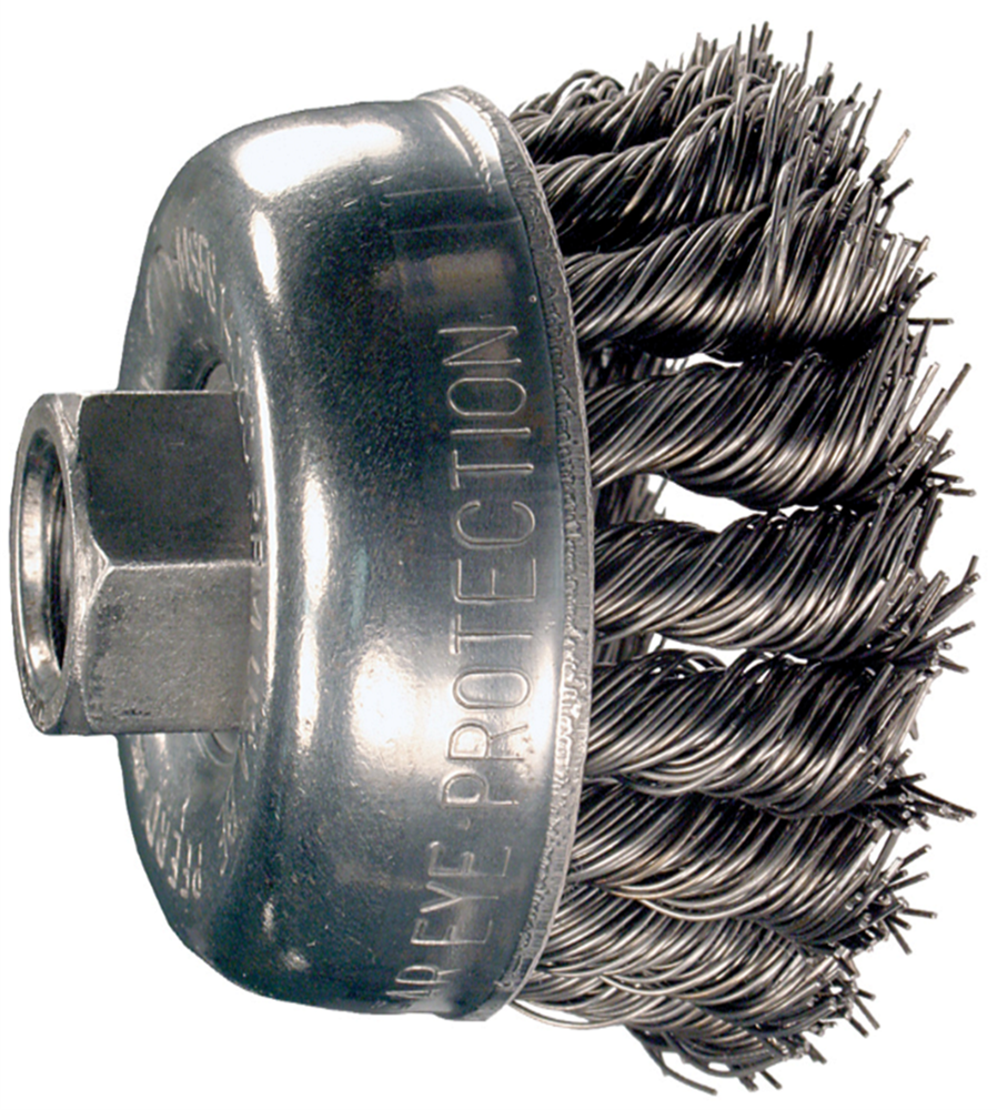"PFERD 2-3/4"" KNOTTED CUP ANGLE GRINDER BRUSH (PF82219)"